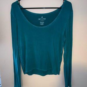 Blue Soft n Sexy American Eagle Shirt